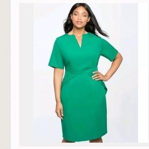 Eloquii green V Neck Sheath dress 20 NWT